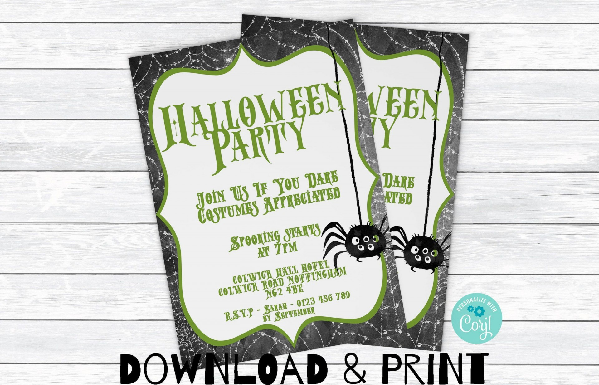 008 Best Halloween Party Invitation Template High Def  Microsoft Block October1920