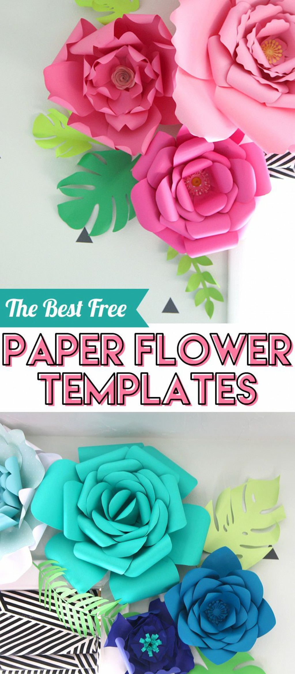 008 Best Large Rose Paper Flower Template Free Picture Large