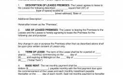 008 Best Office Lease Agreement Template Sample  Free Property Word