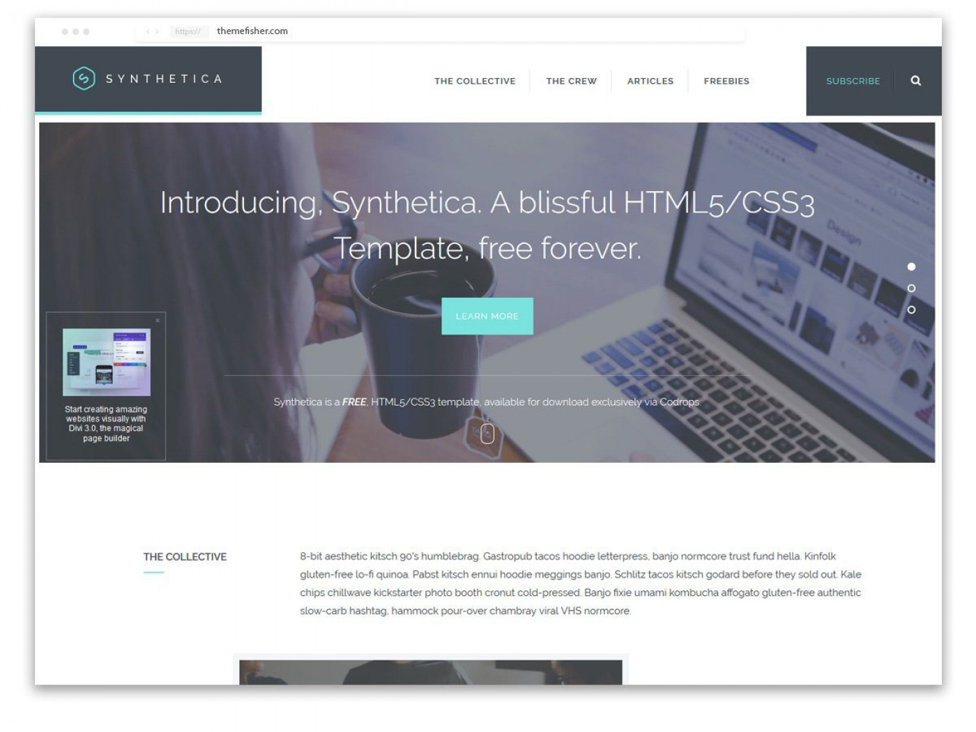 008 Best One Page Website Template Free Download Html5 High Def  Parallax1400