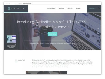 008 Best One Page Website Template Free Download Html5 High Def  Parallax360