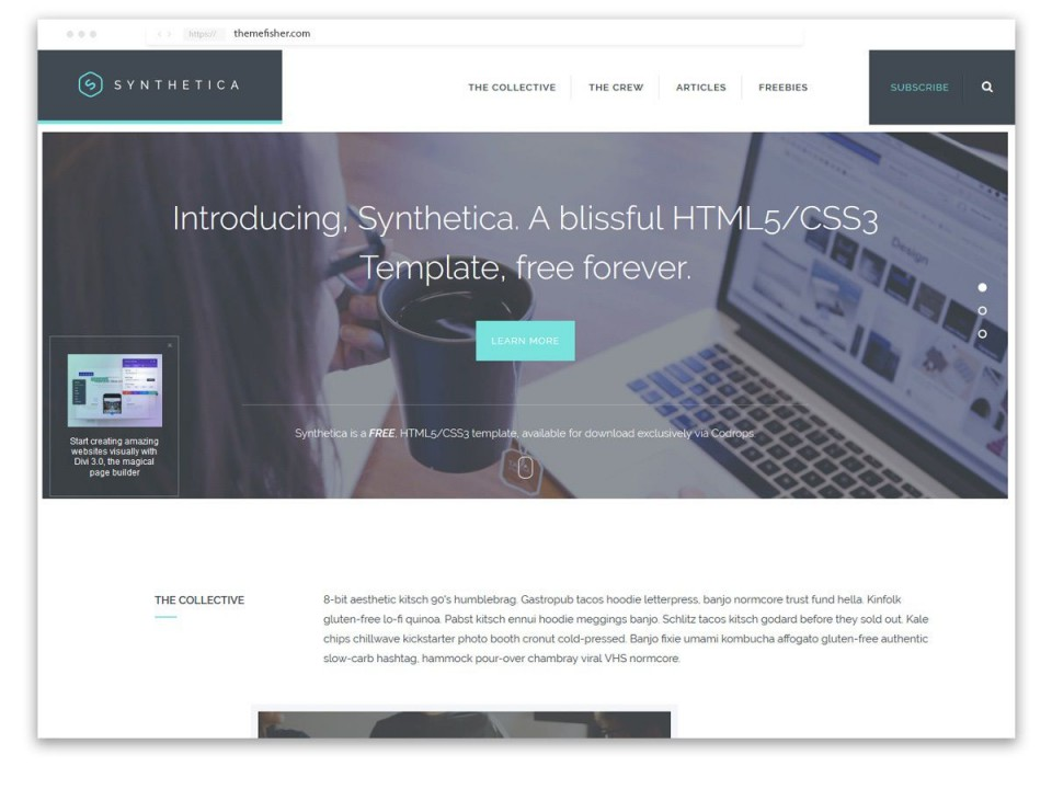 008 Best One Page Website Template Free Download Html5 High Def  Parallax960