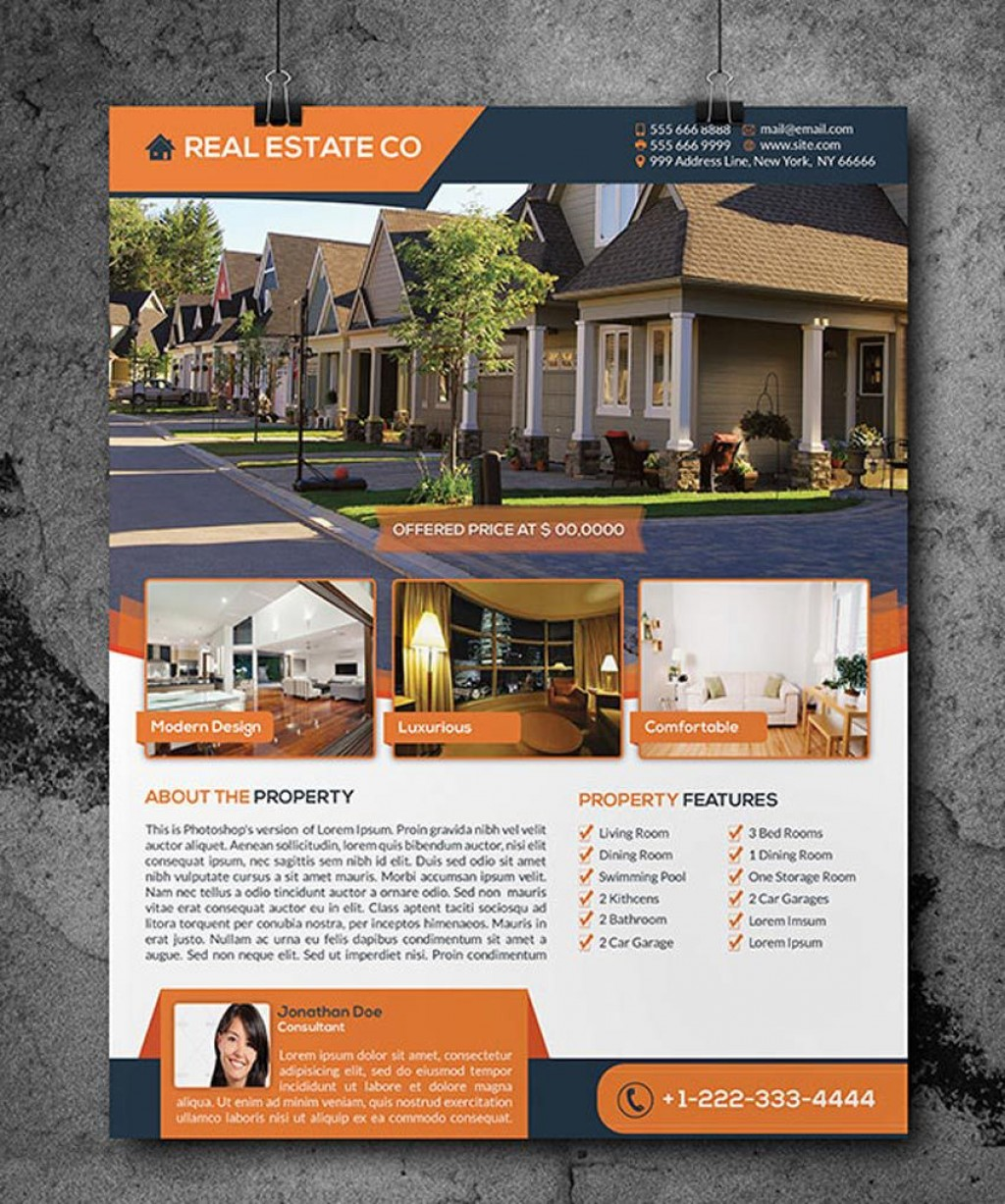 008 Best Open House Flyer Template Sample  Templates Word Free Microsoft Real EstateLarge