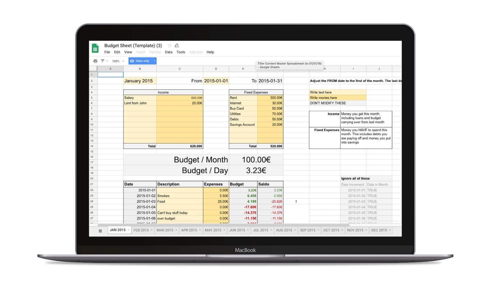 008 Best Personal Budget Sheet Template Uk Image  SpreadsheetFull