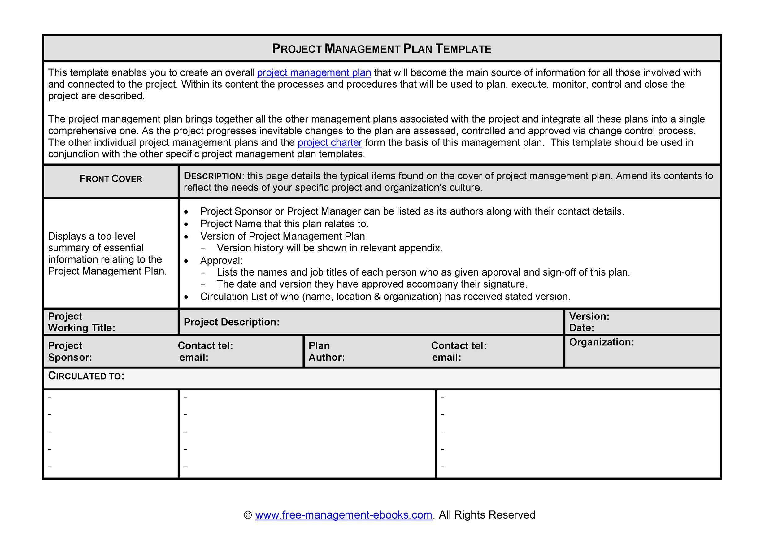 008 Best Project Management Plan Template Free High Resolution  Word Simple Excel DownloadFull