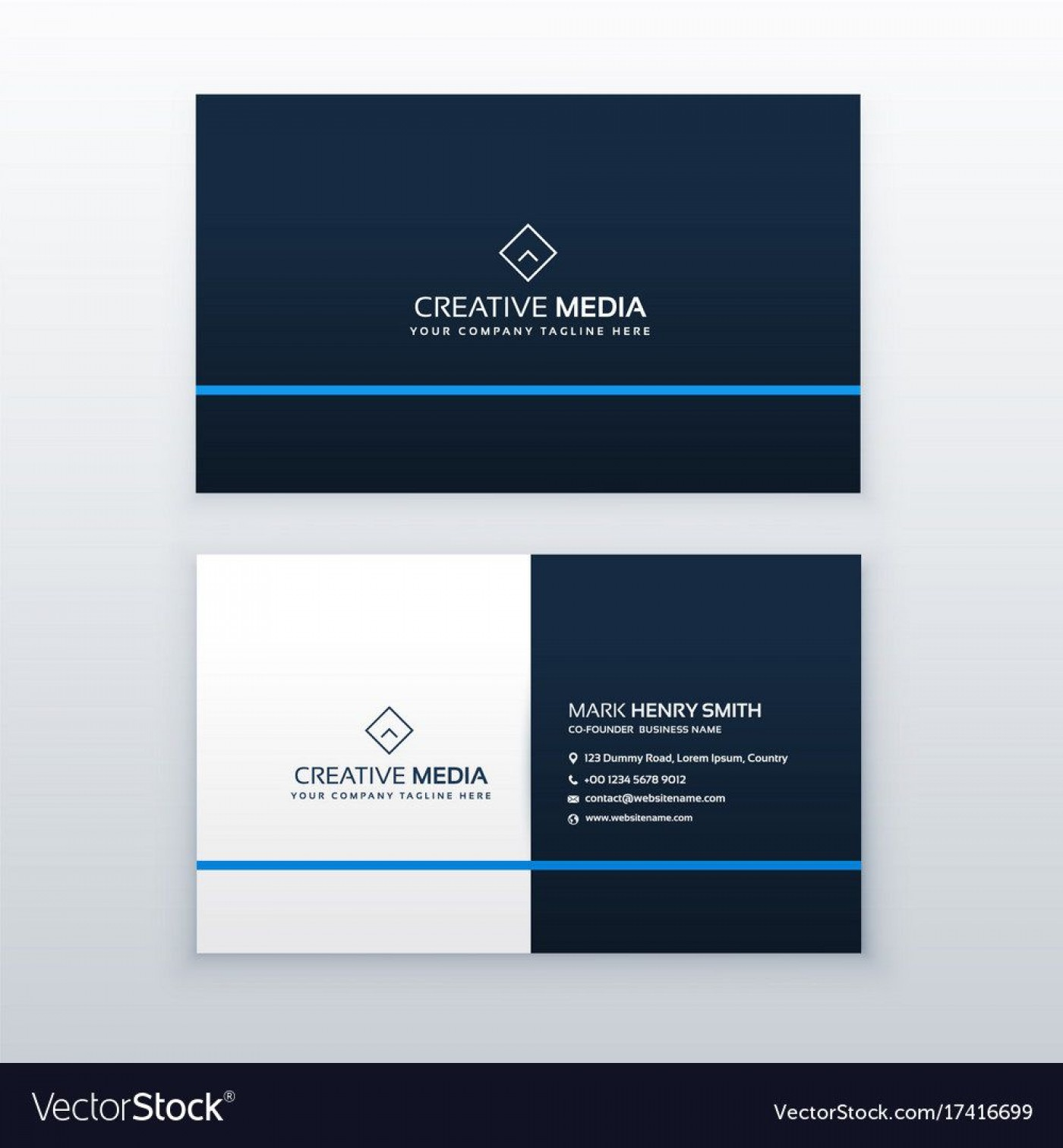 008 Best Simple Visiting Card Design Concept  Calling Busines Template Free In Photoshop1400