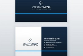 008 Best Simple Visiting Card Design Concept  Calling Busines Template Free In Photoshop