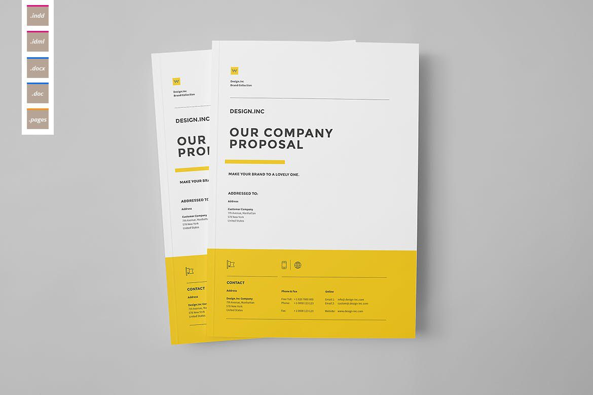 008 Best Web Design Proposal Template Indesign Photo Full