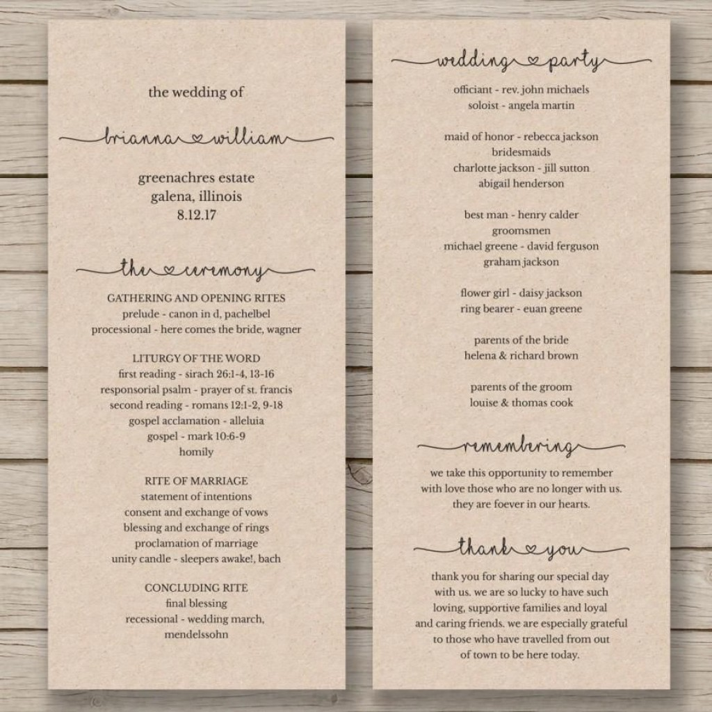008 Best Wedding Program Template Word High Definition  Catholic Mas Sample Wording Idea Example SimpleLarge
