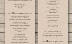 008 Best Wedding Program Template Word High Definition  Catholic Mas Sample Wording Idea Example Simple