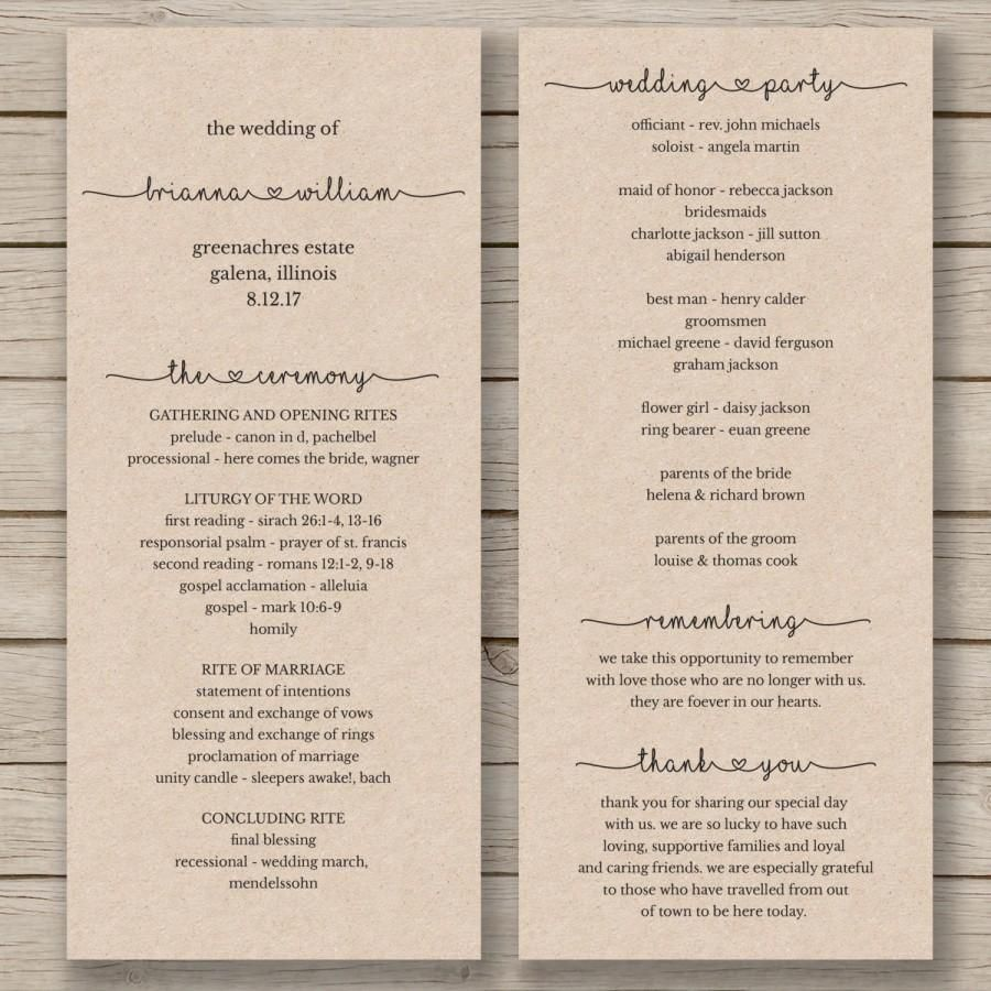 008 Best Wedding Program Template Word High Definition  Catholic Mas Sample Wording Idea Example SimpleFull