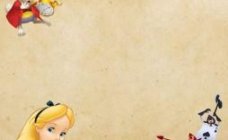 008 Breathtaking Alice In Wonderland Invite Template Photo  Party Invitation Free