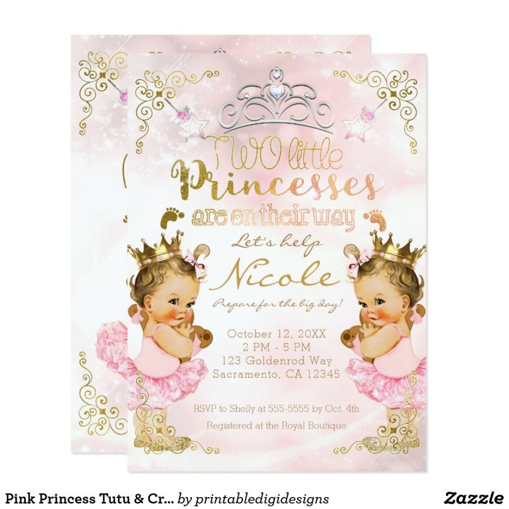 008 Breathtaking Baby Shower Invitation Girl Princes Example  Princess ThemeLarge