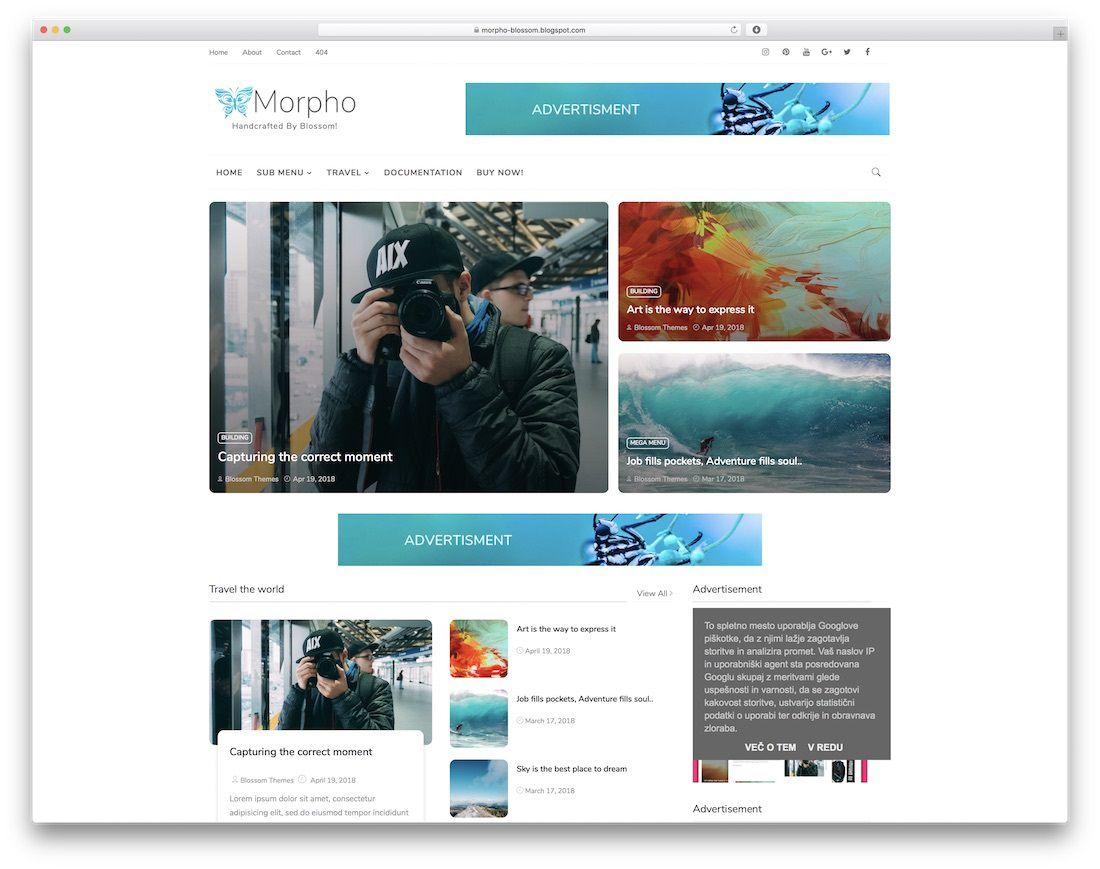 008 Breathtaking Best Free Responsive Blogger Template 2018 Design Full