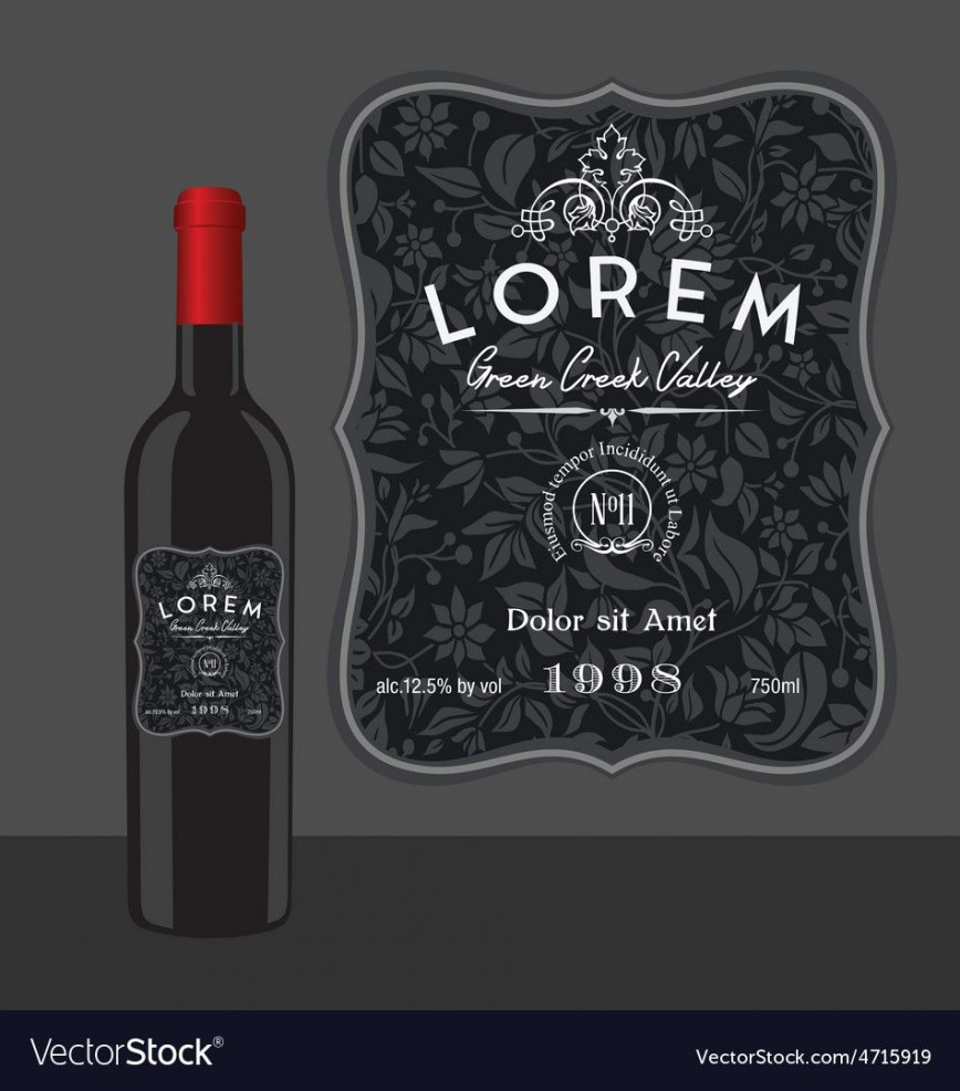 008 Breathtaking Bottle Label Template Free Example  Wine Download Photoshop Water