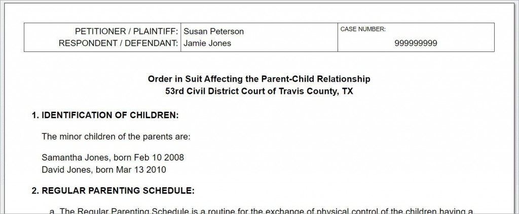 008 Breathtaking Child Custody Agreement Template Highest Quality  Texa Nj UkLarge