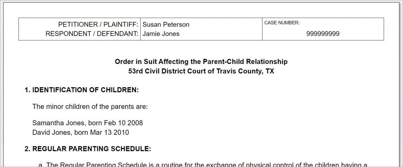 008 Breathtaking Child Custody Agreement Template Highest Quality  Texa Nj Uk1400