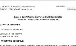 008 Breathtaking Child Custody Agreement Template Highest Quality  Form Ontario California Visitation Uk