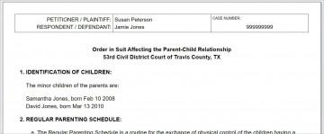 008 Breathtaking Child Custody Agreement Template Highest Quality  Texa Nj Uk360