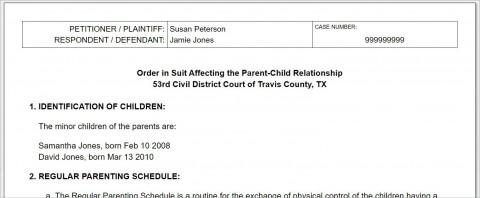 008 Breathtaking Child Custody Agreement Template Highest Quality  Texa Nj Uk480