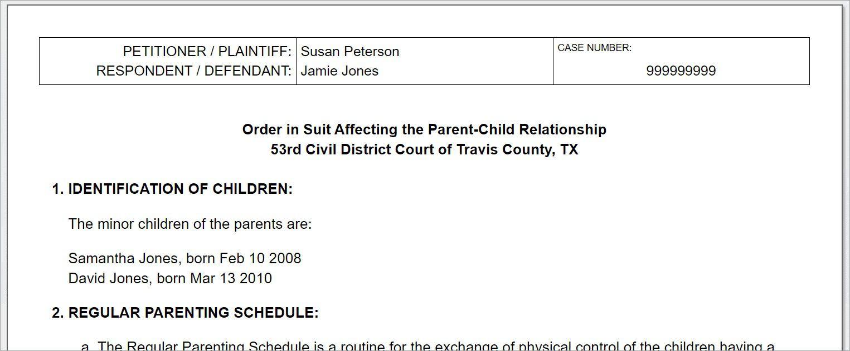 008 Breathtaking Child Custody Agreement Template Highest Quality  Texa Nj UkFull