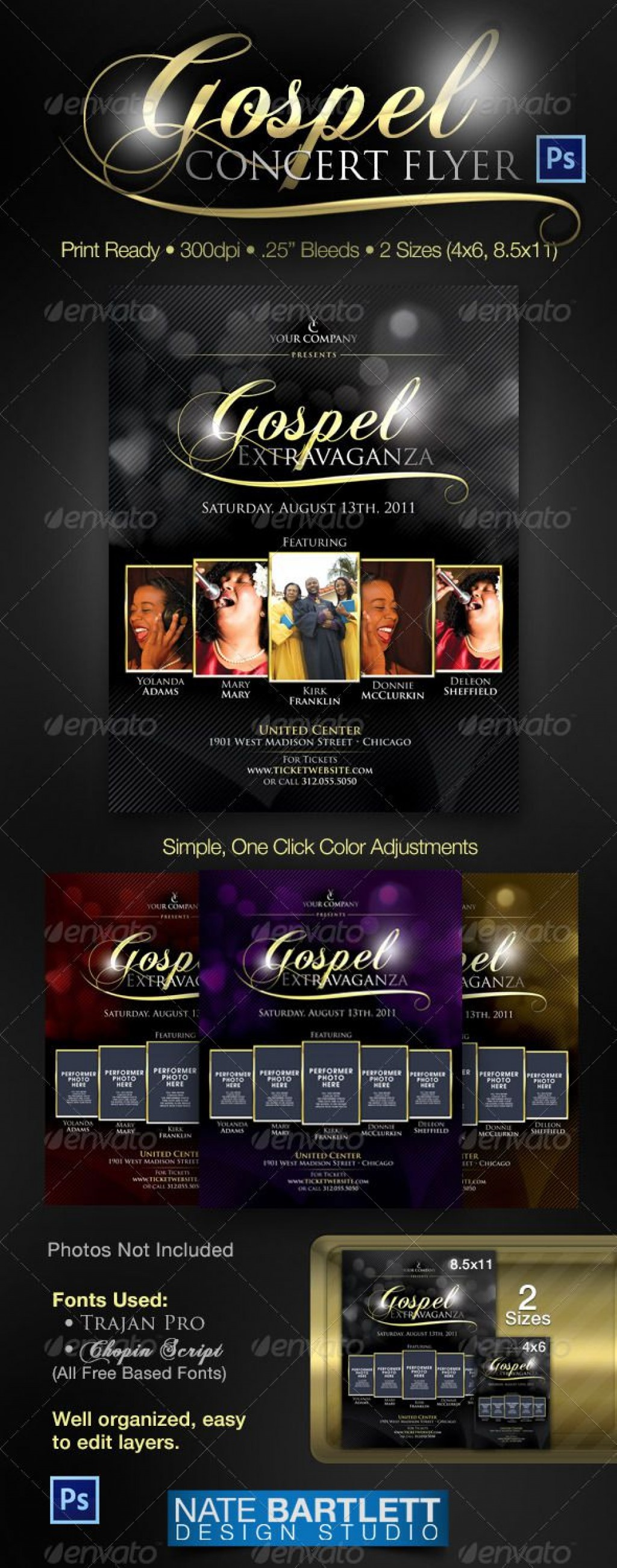008 Breathtaking Church Flyer Template Free Example  Easter Anniversary Conference PsdLarge