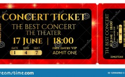 008 Breathtaking Free Editable Concert Ticket Template Design  Psd Word