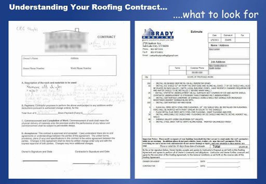 008 Breathtaking Free Residential Roofing Contract Template Picture Large
