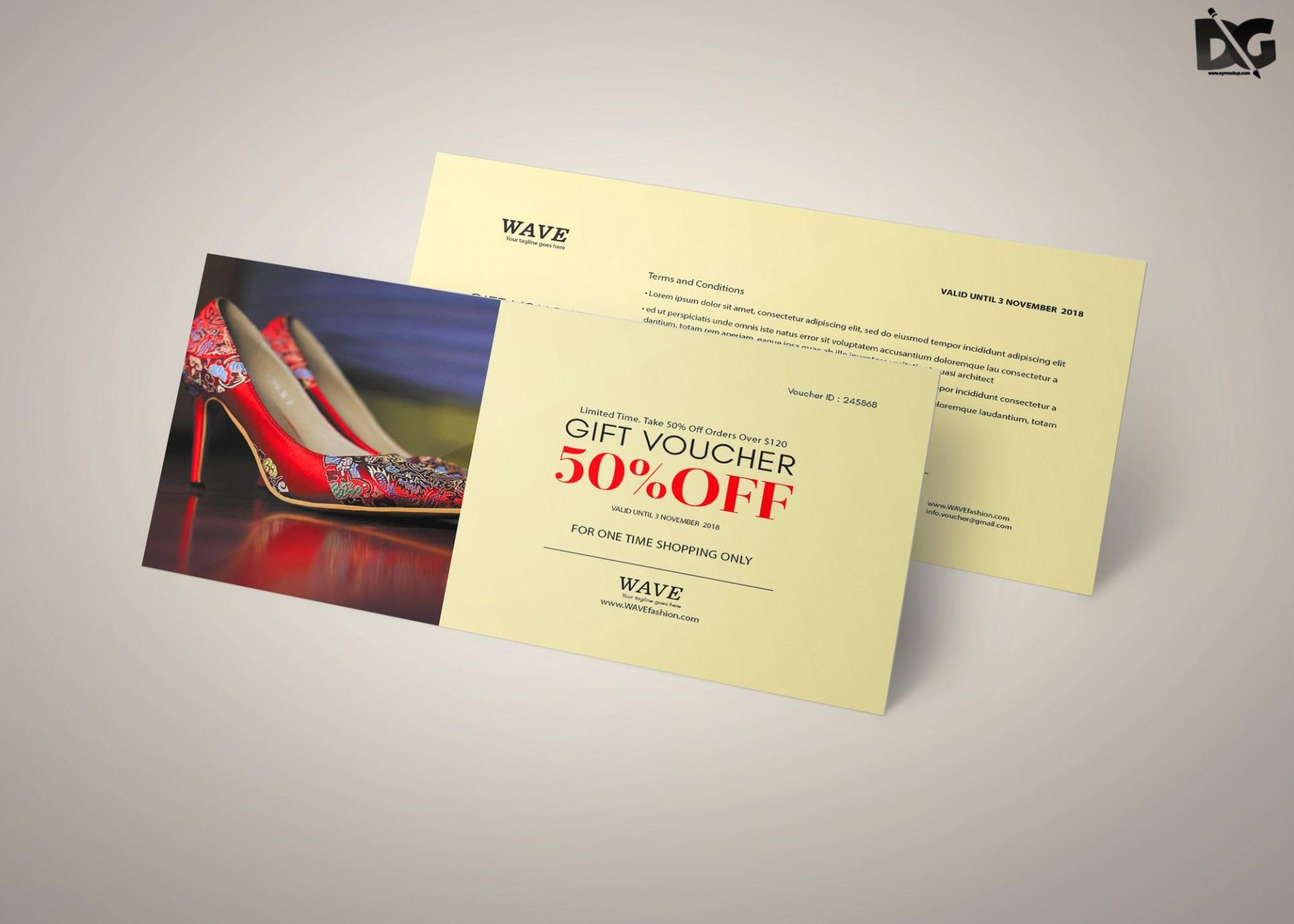 008 Breathtaking Gift Card Template Psd Design  Christma Photoshop Free Holder1920