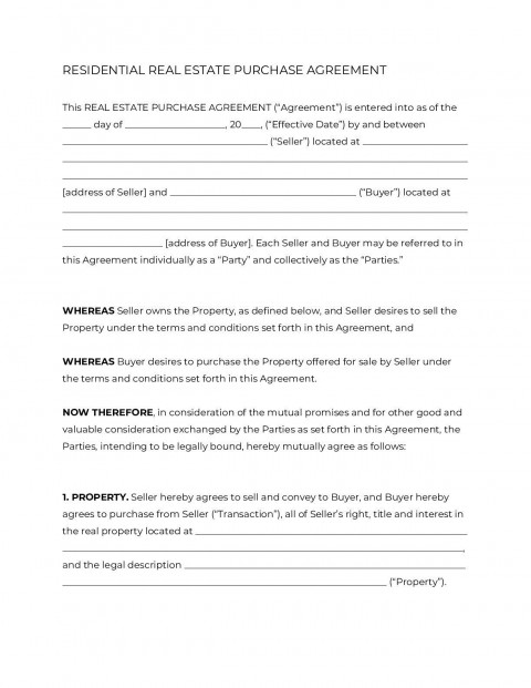 008 Breathtaking Home Purchase Agreement Template Michigan Concept 480