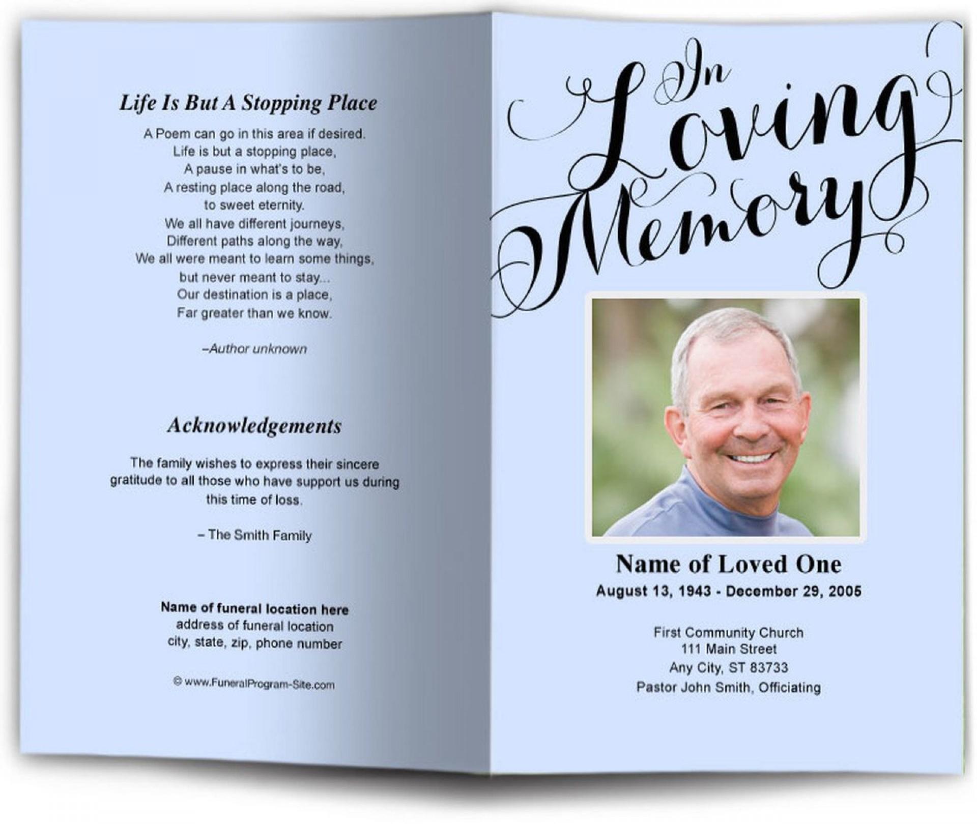 008 Breathtaking In Loving Memory Template Image  Free Download Card Bookmark1920