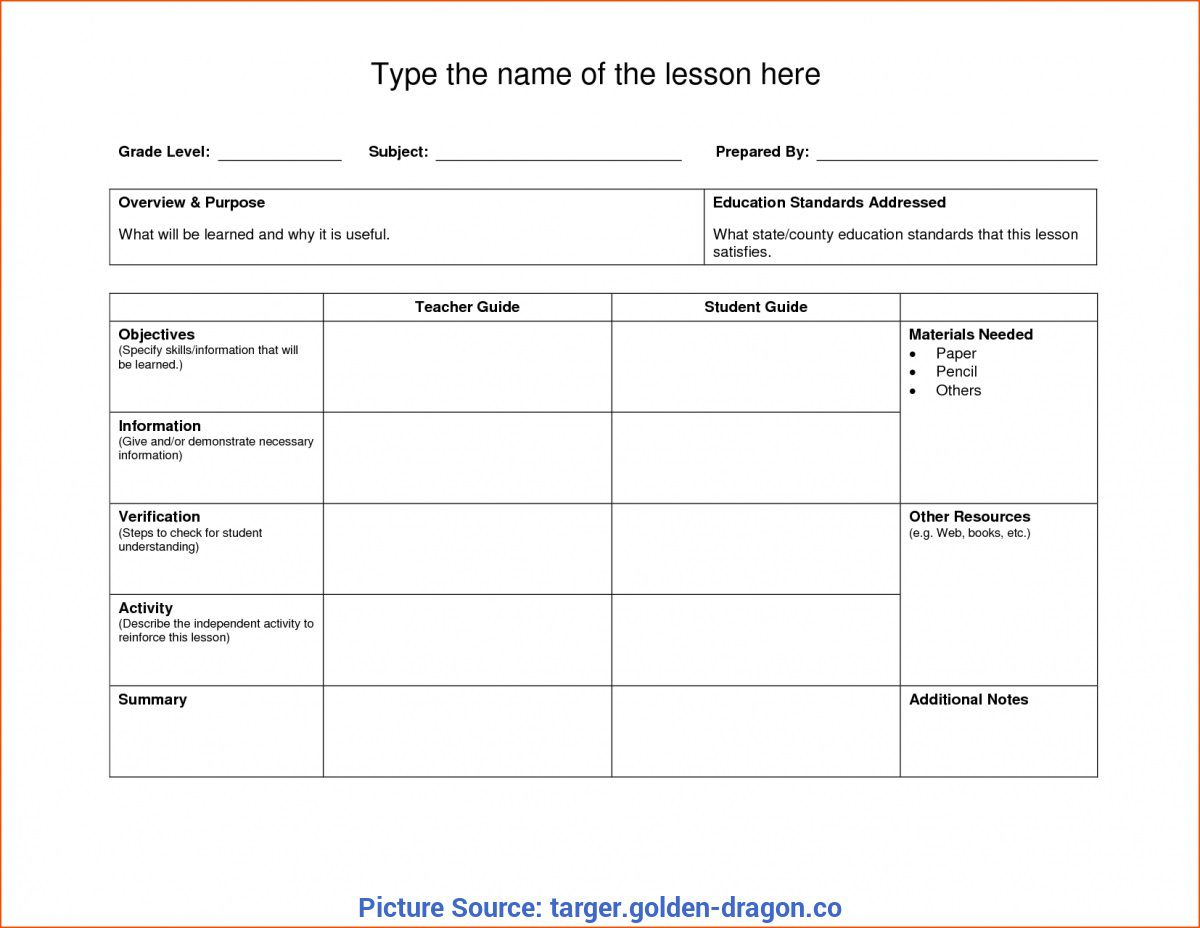 Pe Lesson Plan Template Addictionary