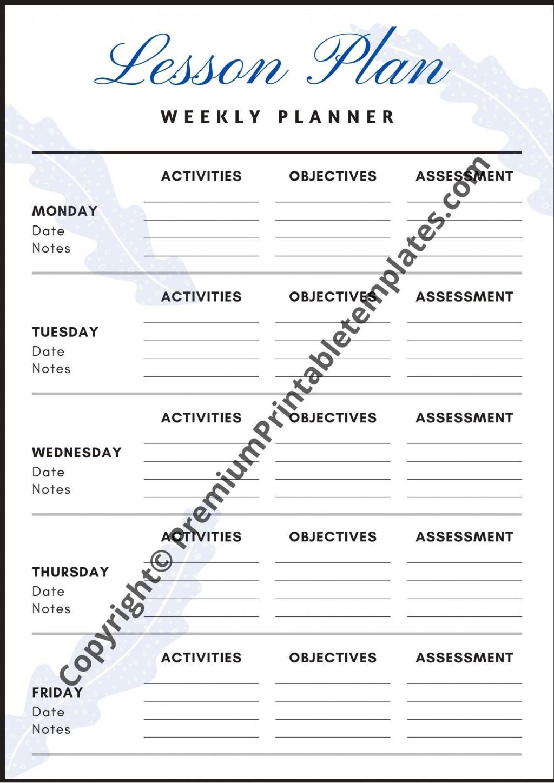 008 Breathtaking Printable Lesson Plan Template Weekly Idea  Blank Pdf Monthly Free PreschoolLarge