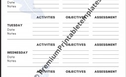 008 Breathtaking Printable Lesson Plan Template Weekly Idea  Blank Pdf Monthly Free Preschool