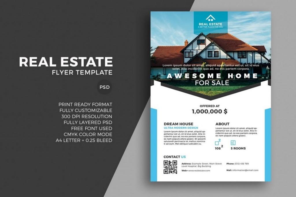 008 Breathtaking Real Estate Marketing Flyer Template Free Image Large