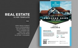 008 Breathtaking Real Estate Marketing Flyer Template Free Image