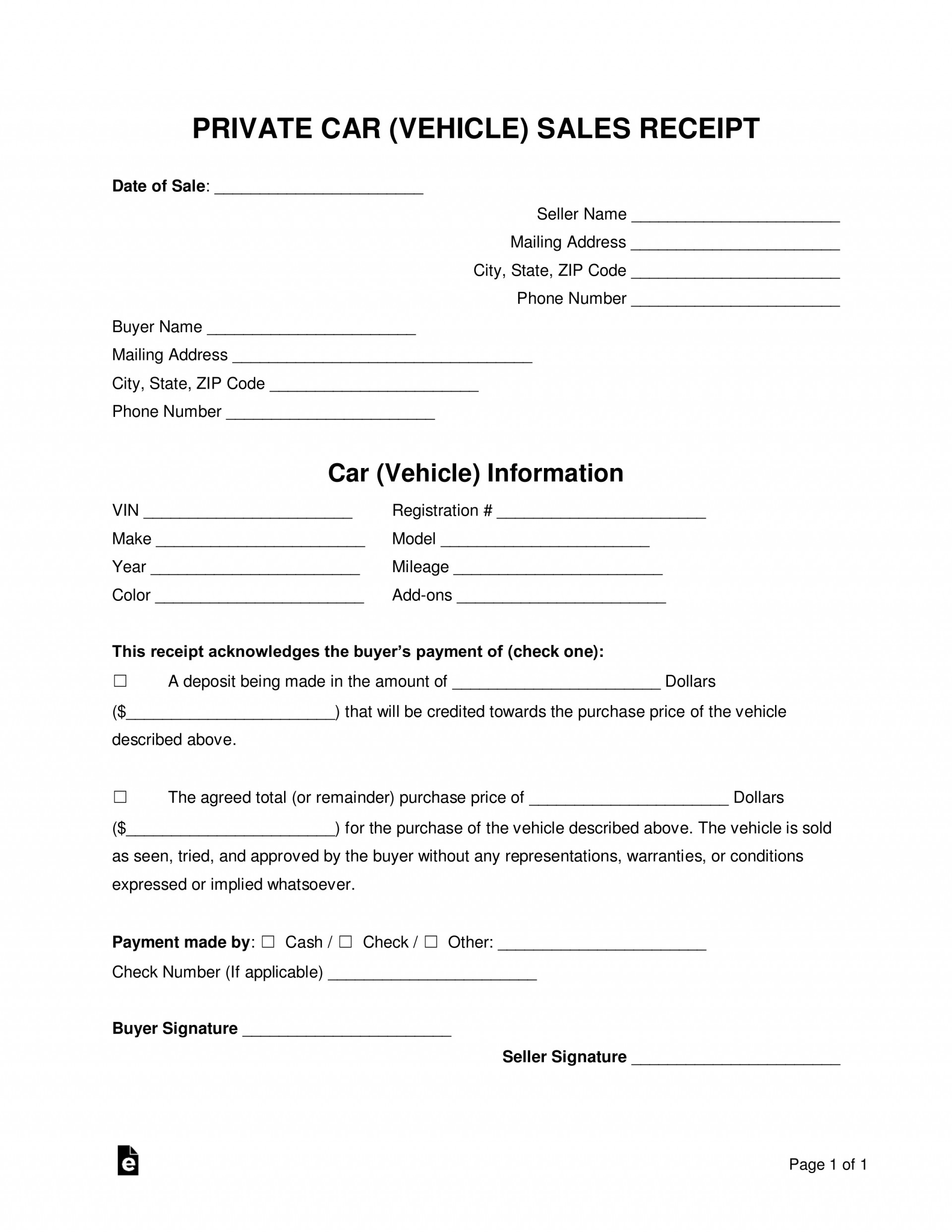 008 Breathtaking Simple Bill Of Sale Template Picture  For Car Pdf Boat Uk1920