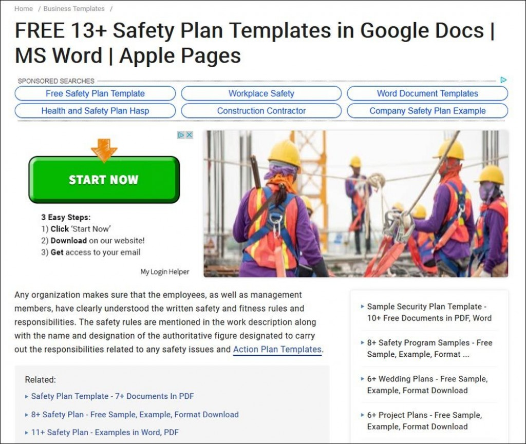 008 Breathtaking Site Specific Safety Plan Template Osha Highest Quality Large