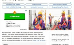 008 Breathtaking Site Specific Safety Plan Template Osha Highest Quality