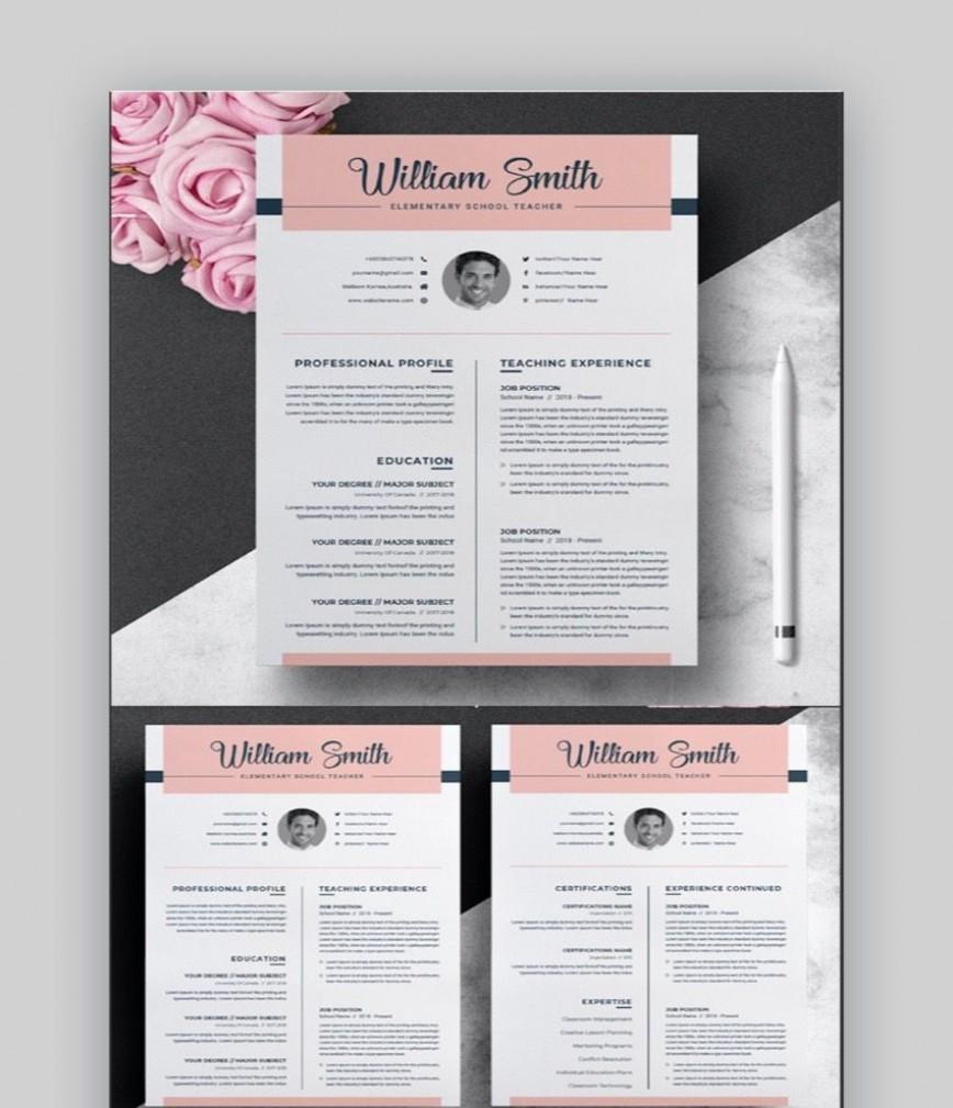 008 Breathtaking Teacher Resume Template Free Highest Clarity  Editable Download Word Fresher Format Doc