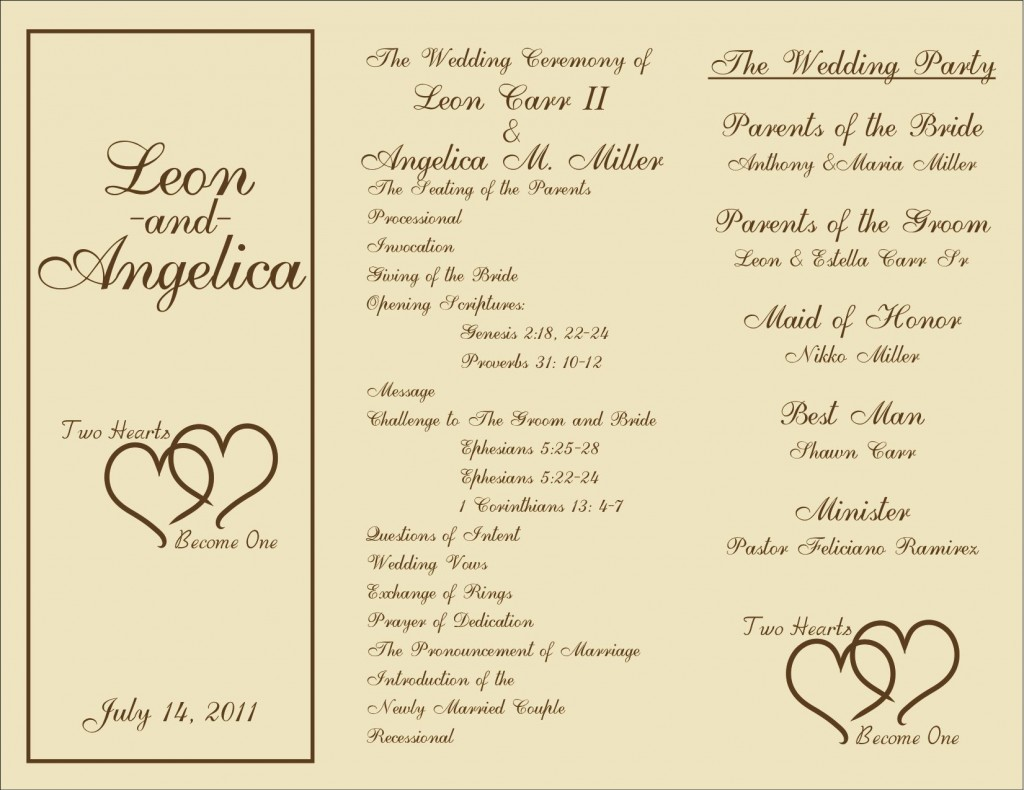 008 Breathtaking Wedding Reception Program Template Image  Templates Layout Free Download Ceremony AndLarge