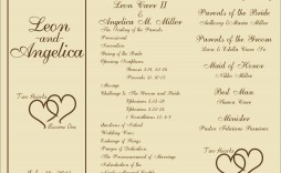 008 Breathtaking Wedding Reception Program Template Image  Templates Layout Free Download Ceremony And