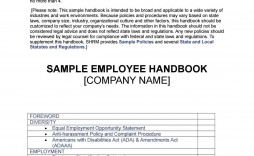 008 Dreaded Employee Handbook Template Free Photo  Restaurant Download Induction Manual Sample In Singapore