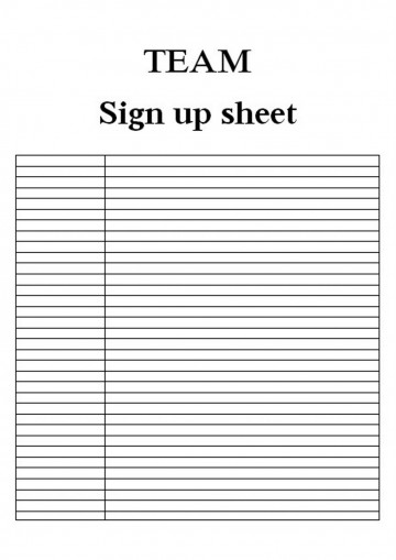 008 Dreaded Event Sign Up Sheet Template Idea  In Google Doc Free360