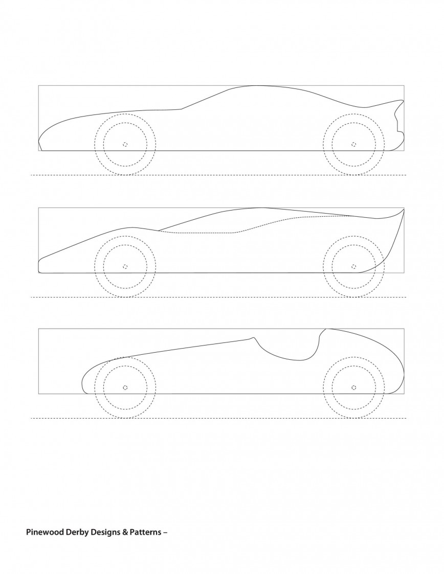008 Dreaded Fast Pinewood Derby Car Template Image  Templates Design