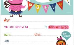 008 Dreaded Free Birthday Card Invitation Template Printable Image