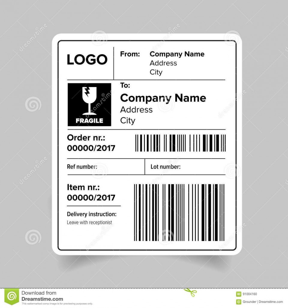 008 Dreaded Free Online Shipping Label Template Highest Quality 960