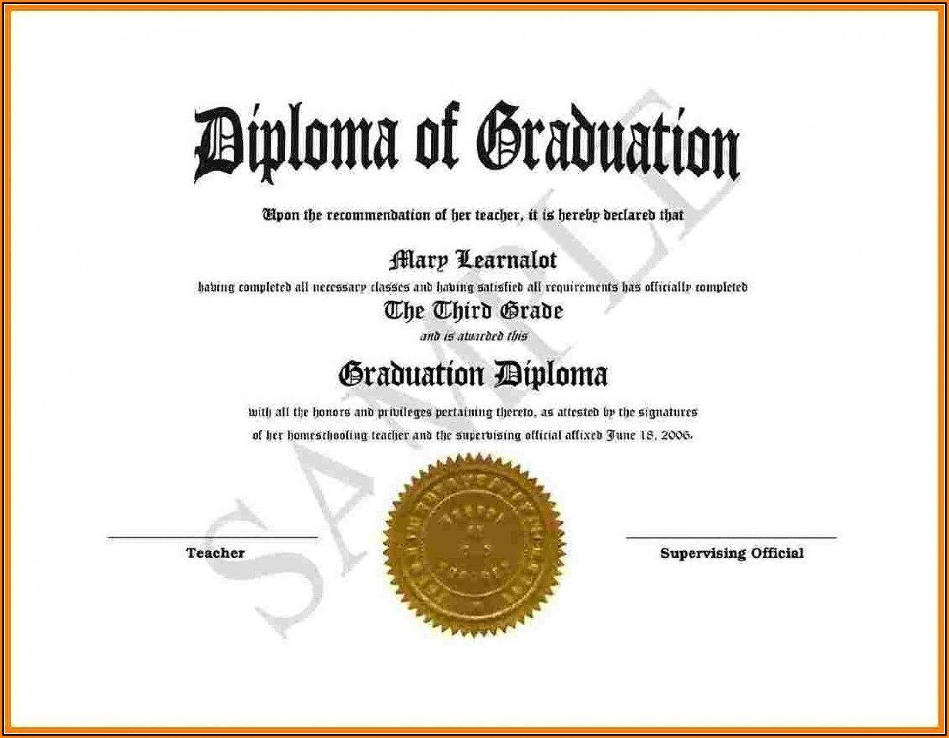 008 Dreaded Free Printable High School Diploma Template Resolution  With SealFull