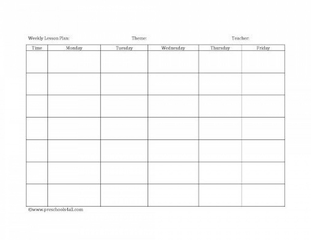 008 Dreaded Free Printable Lesson Plan Template Blank Picture  FormatLarge