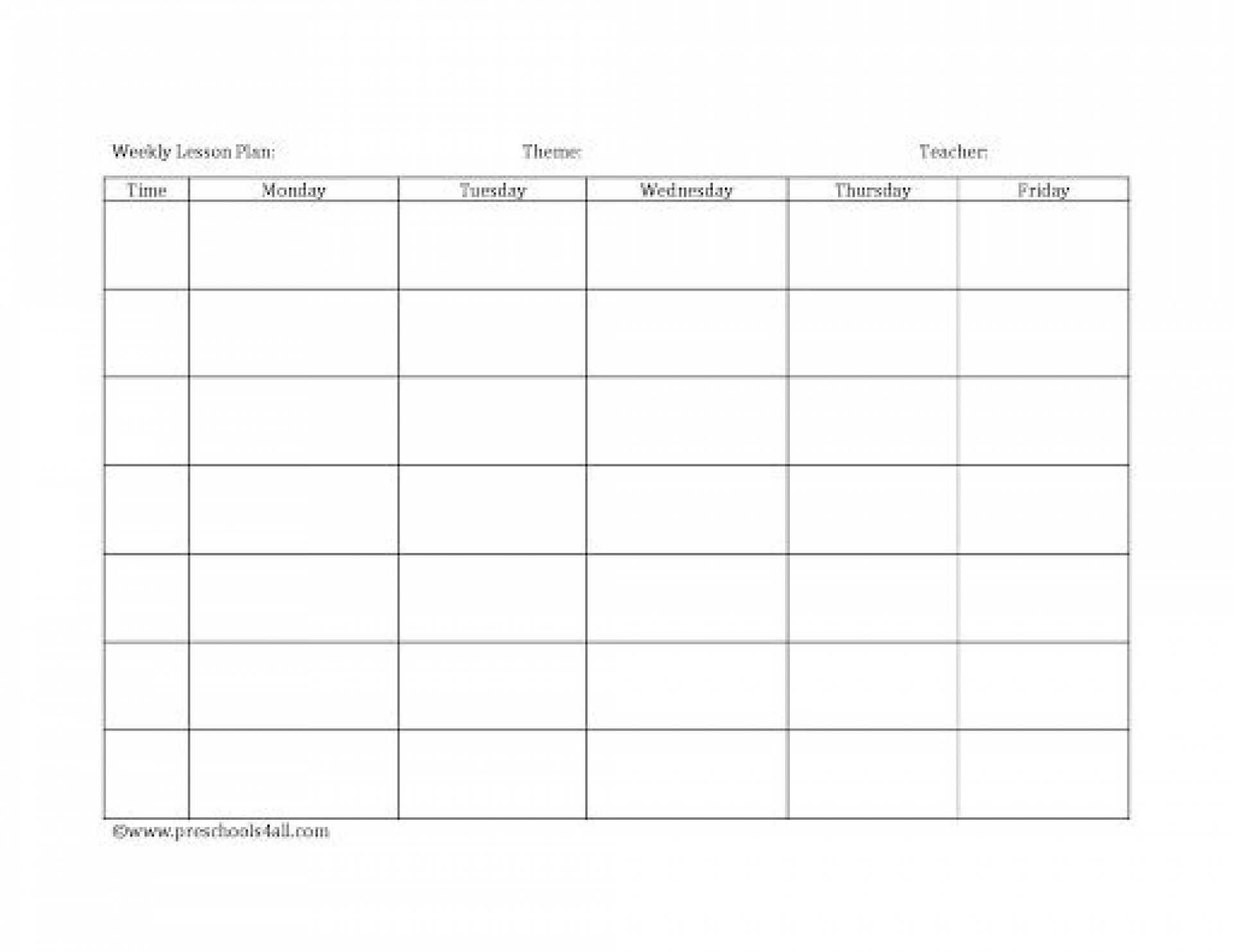 008 Dreaded Free Printable Lesson Plan Template Blank Picture  Format1920